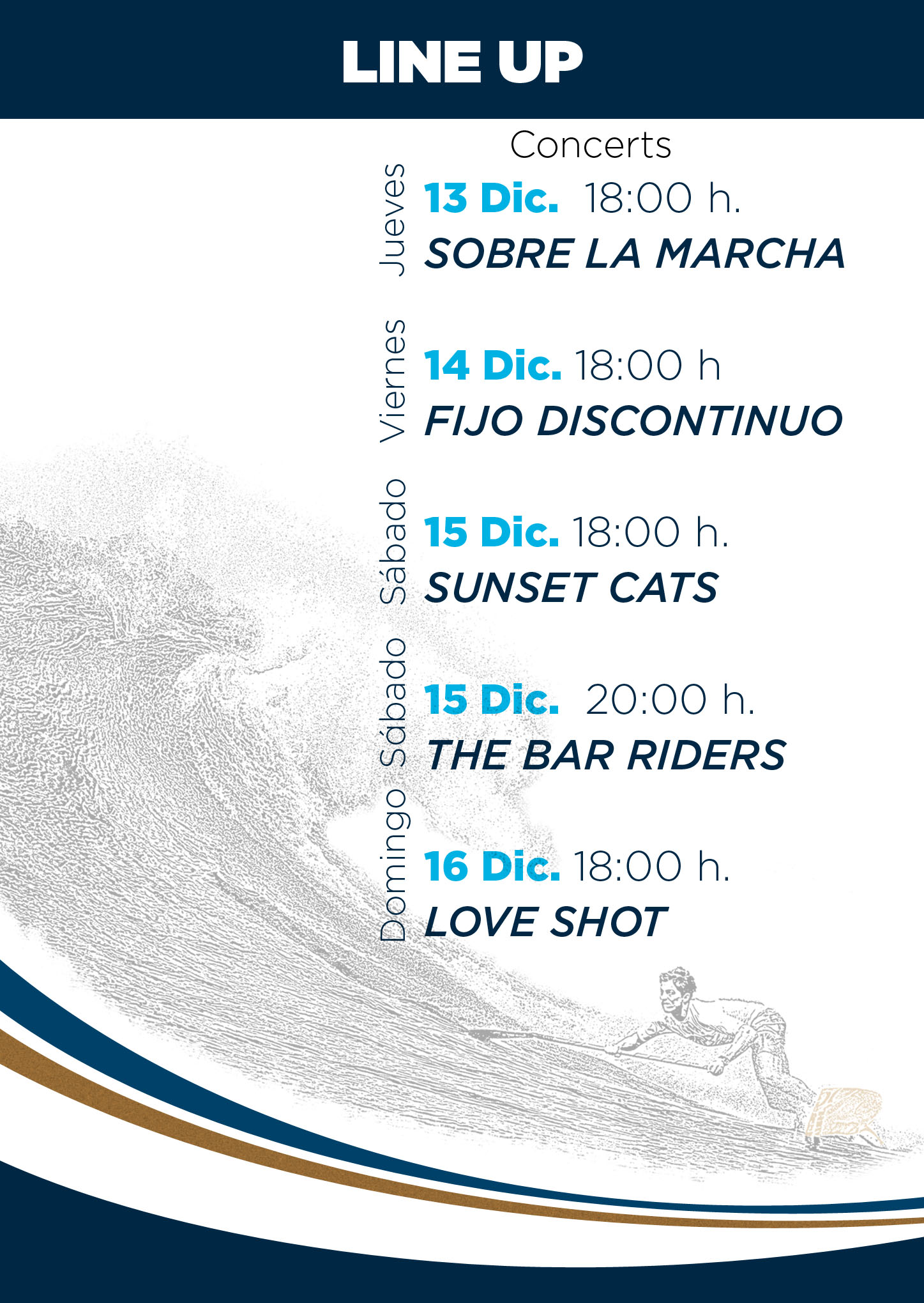 Gran Canaria pro am live music plan